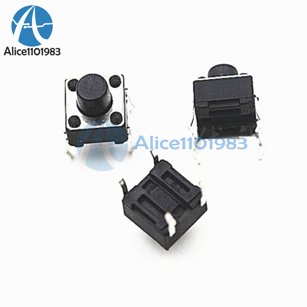 10pcs Tactile Switch Touch Push Button Key Tact Cooker 6 X 6 X 4.3mm 4-pin DIP