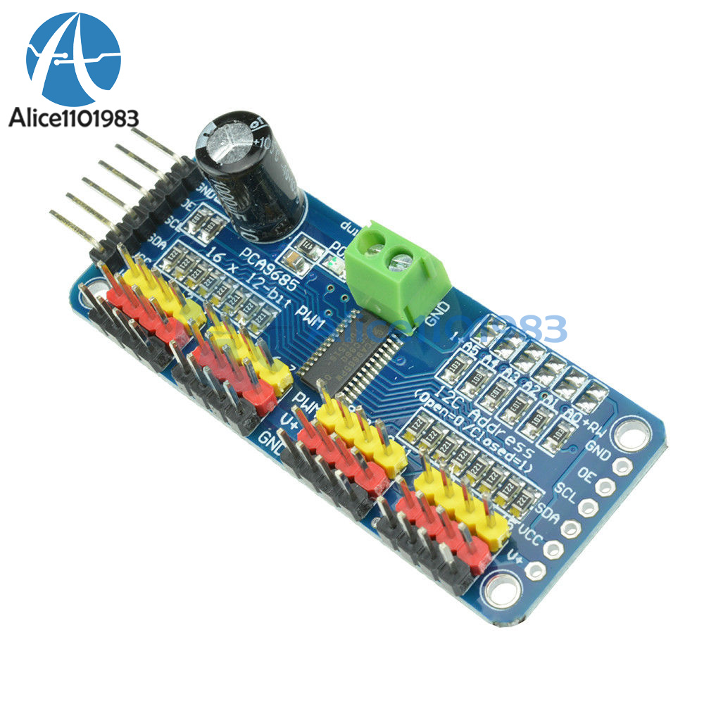 Details about PCA9685 16 Ch 12-bit PWM Servo Shield Motor Driver I2C Module  For Arduino Robot