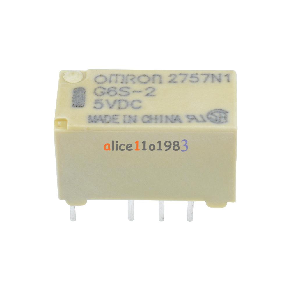 250pcs ORIGINAL G6S-2 12VDC OMRON Relay 8Pins