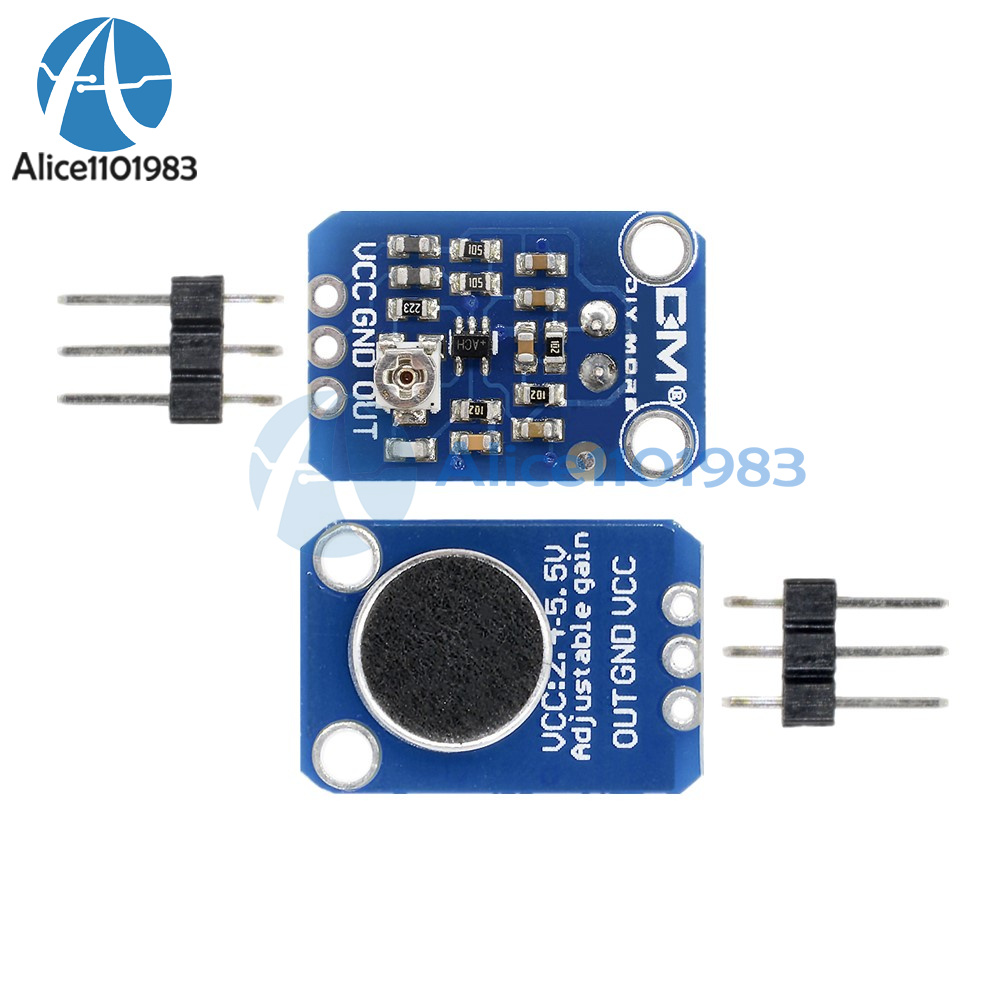 New Electret Microphone Amplifier Max4466 With Adjustable Gain For Simple Condenser Circuit Arduino