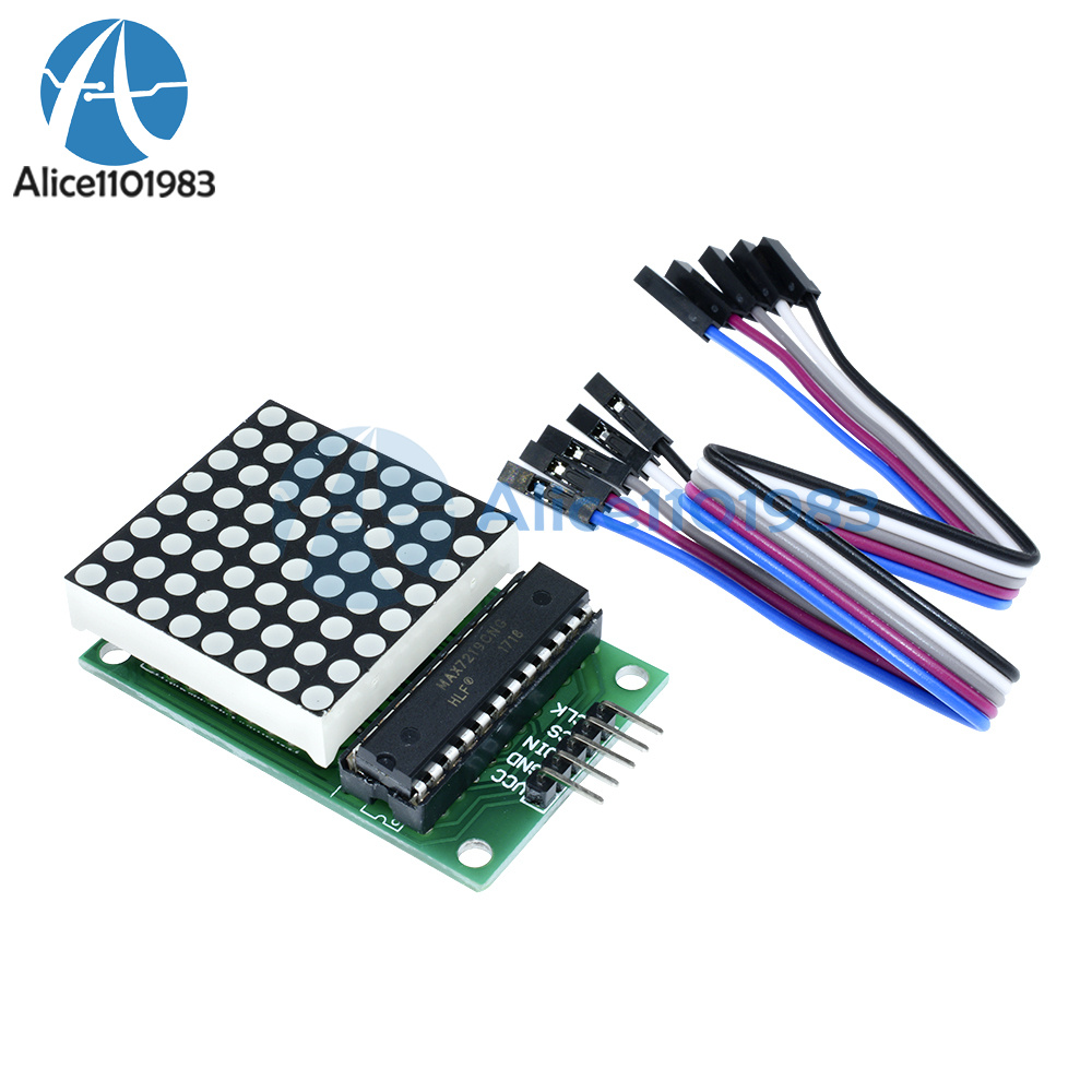 Details about MAX7219 Dot led matrix module MCU control LED Display module  for Arduino