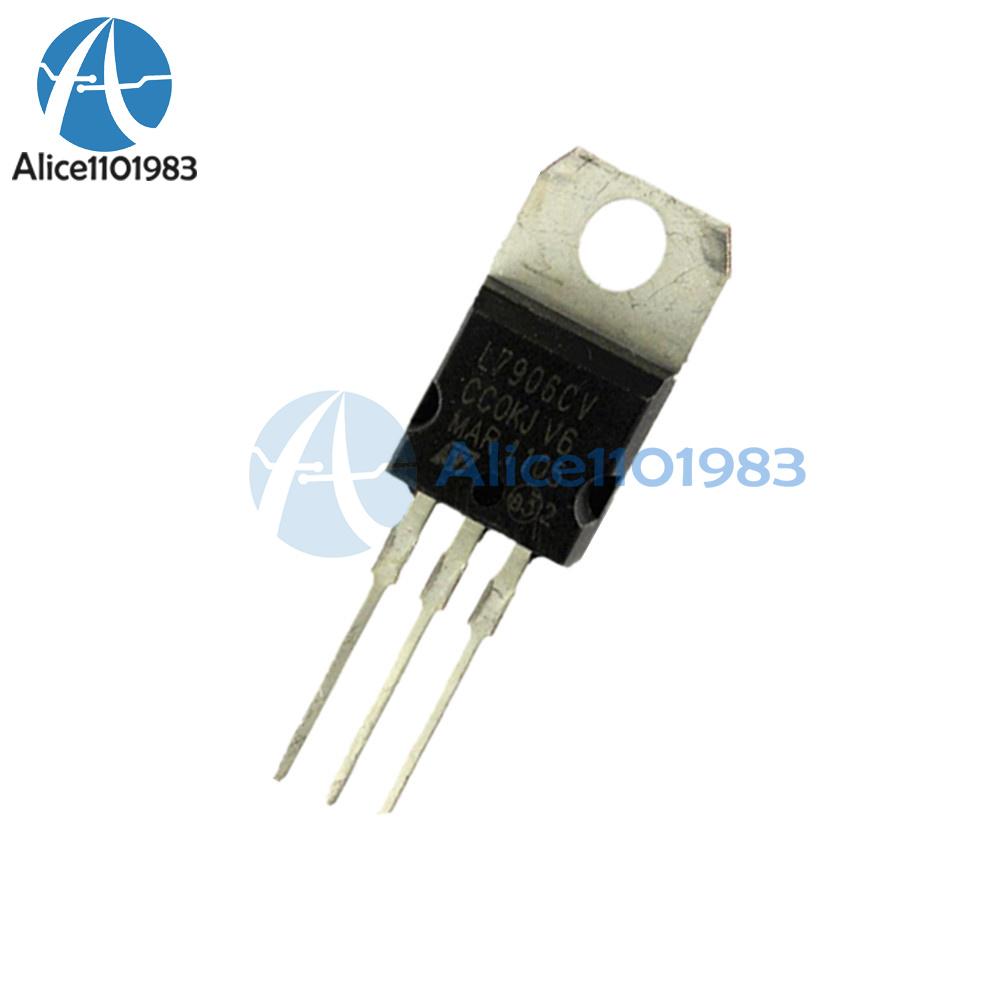 5PCS IC L7906CV 7906 TO-220 ST Voltage Regulator 8V NEW