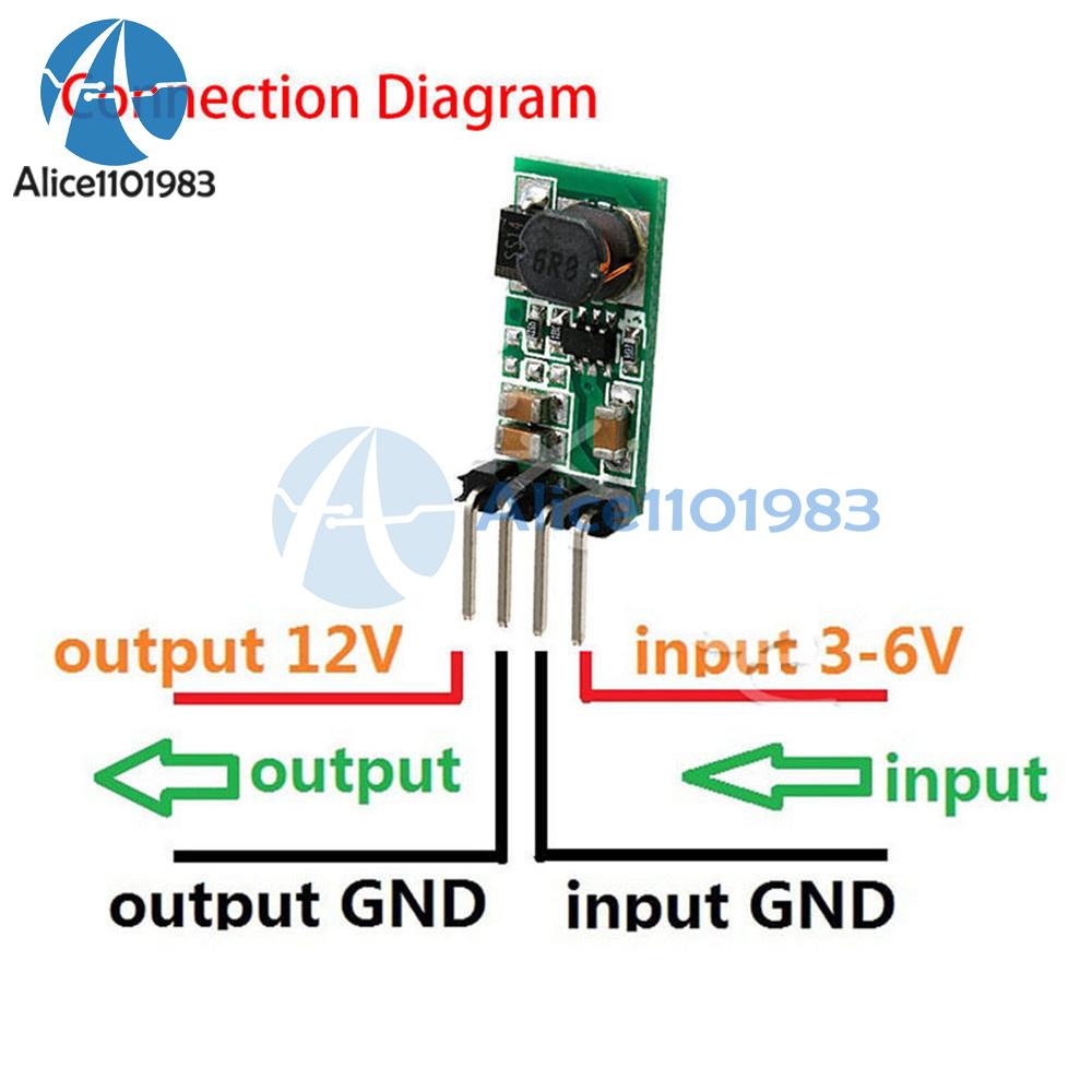 Dc 3 3v 3 7v 5v 6v To 12v Step Up Power Supply Boost Voltage