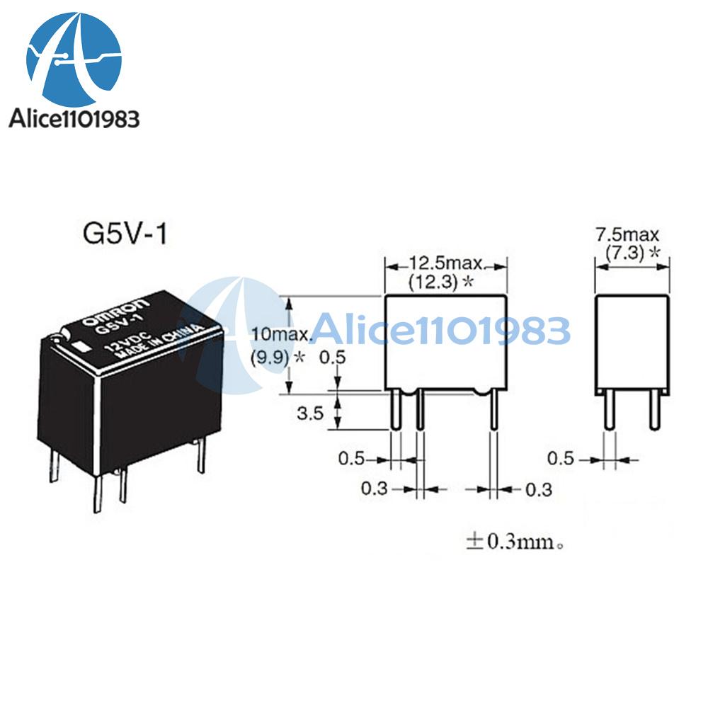 10pcs new 5v g5v 1 5vdc signal relay 6 pins for omron relay 6pin hot rh ebay com Arduino Relay Wiring Diagram Dpdt Relay Wiring Diagram