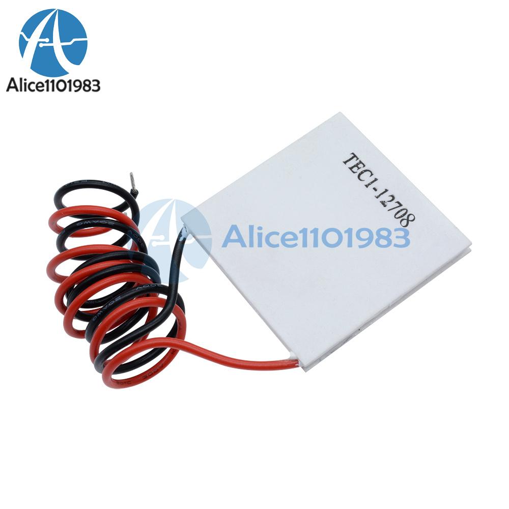 2PCS TEC1-12708 Dissipateur de chaleur Thermoelectric Cooler Cooling Peltier Plate Module