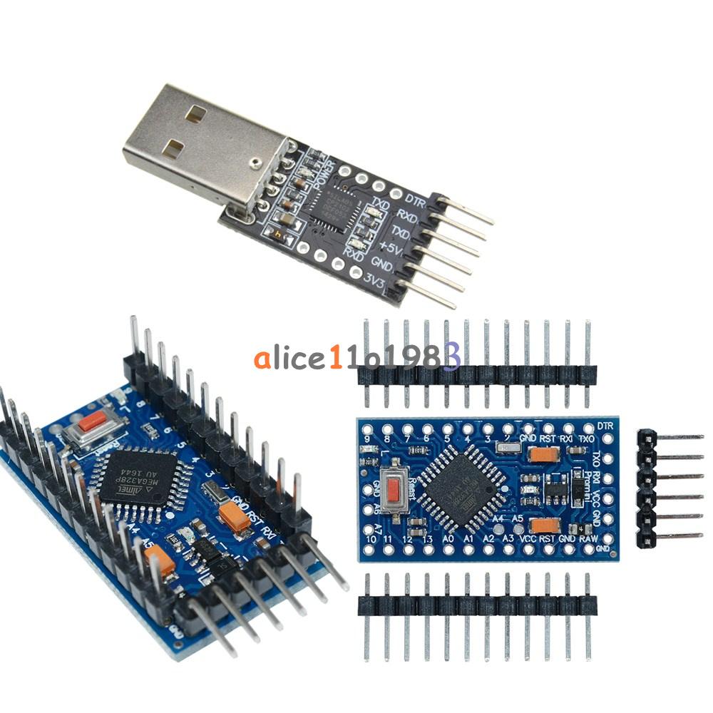 Details about Pro Mini atmega328 3 3V 8M Arduino Compatible +CP2102 USB 2 0  to UART TTL Module