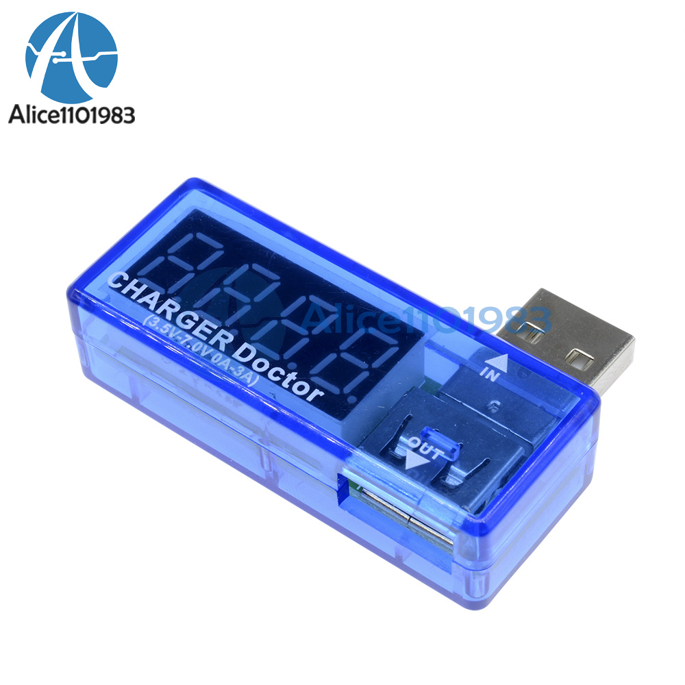 5 PCS USB Charger Doctor Voltage Current Meter Battery Tester Power Detector