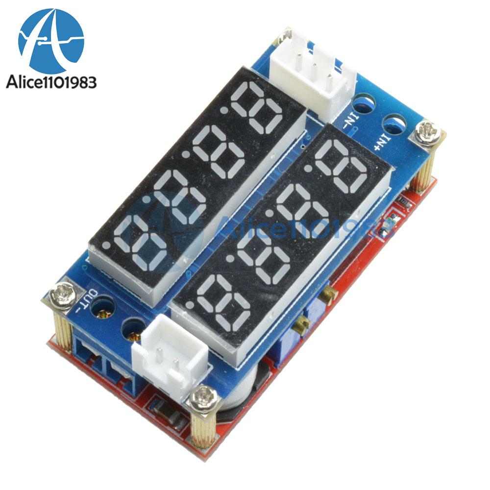 2PCS 5 A Affichage réglable Step Down charge module DEL Panneau voltmètre ampèremètre