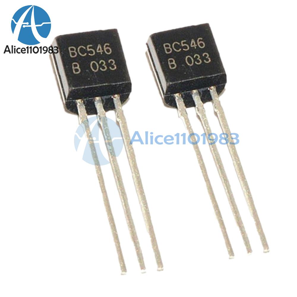 50Pcs BC546 TO-92 NPN 65V 0.1A Transistor