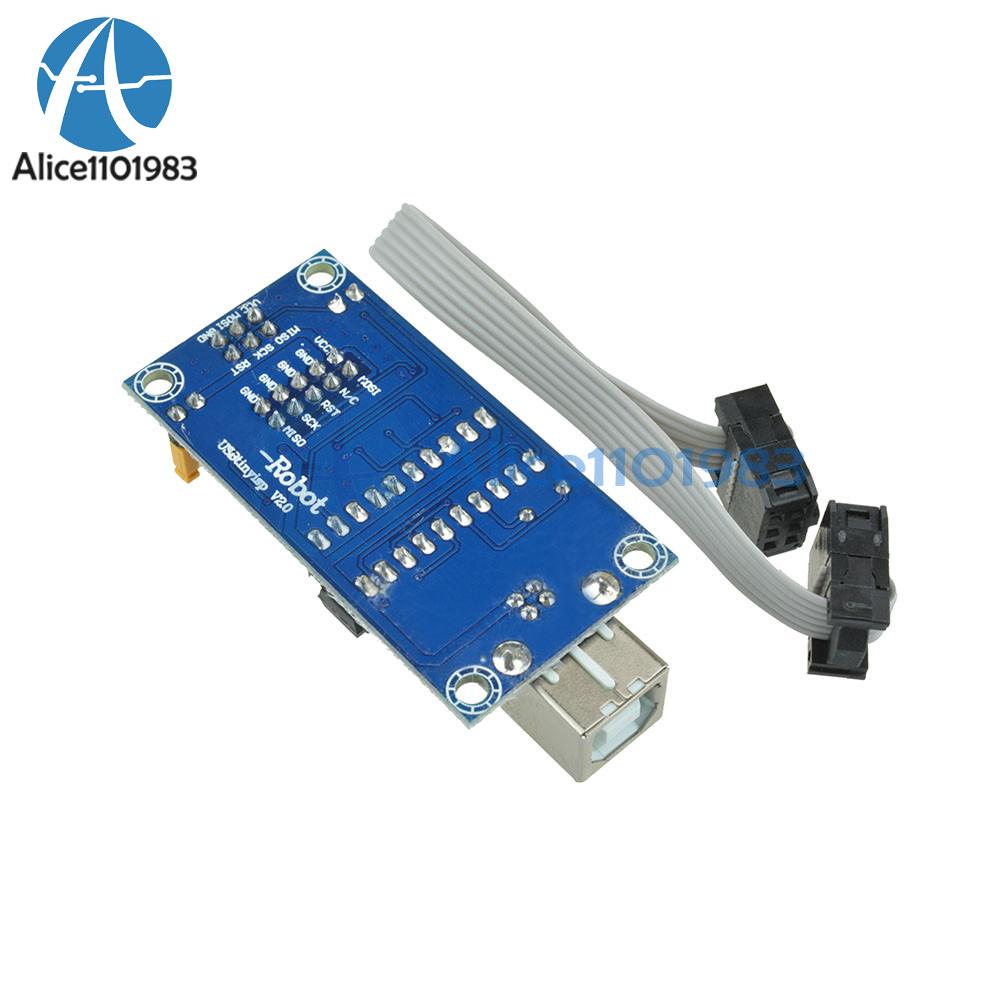 2PCS USBTiny USBtinyISP AVR ISP programmer Arduino bootloader Meag2560 uno r3 UK