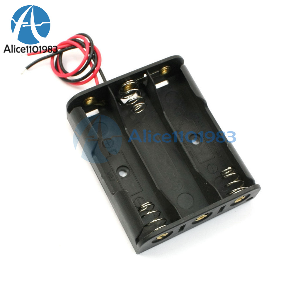 5PCS Plastic Battery Storage Case Box Holder For 5 X AA 5xAA 2A 7.5V wire leads