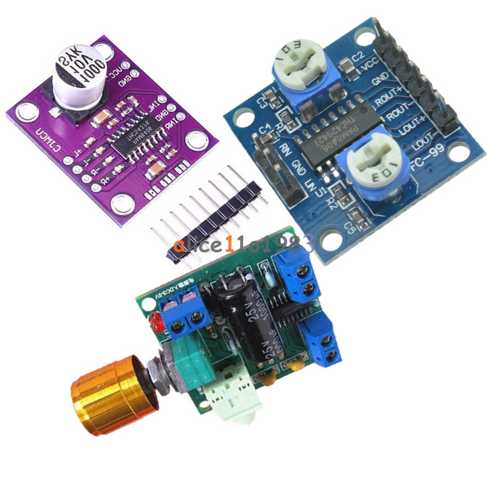 Pam8406 Mcu8406 Digital Class D Power Amplifier Stereo Audio 5w Development Board