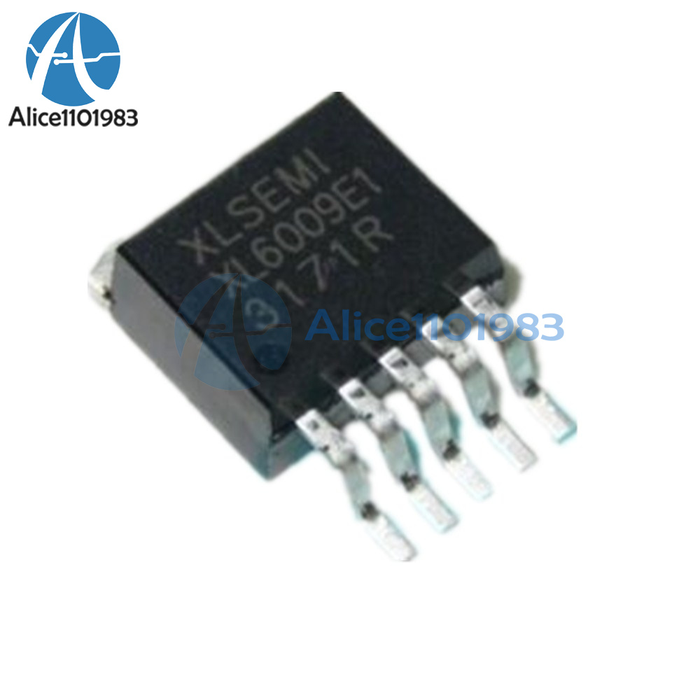5PCS XL6009E1 DC-DC Adjustable Step-up Boost IC TO-263 42V//4A//400KHz NEW
