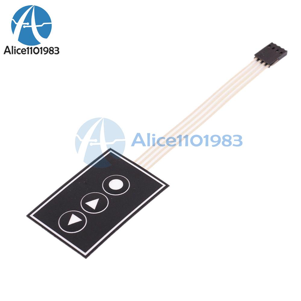 1x3 Matrix Array 3Key Membrane Switch Keypad Keyboard 1*3Key For Arduino PIC AVR