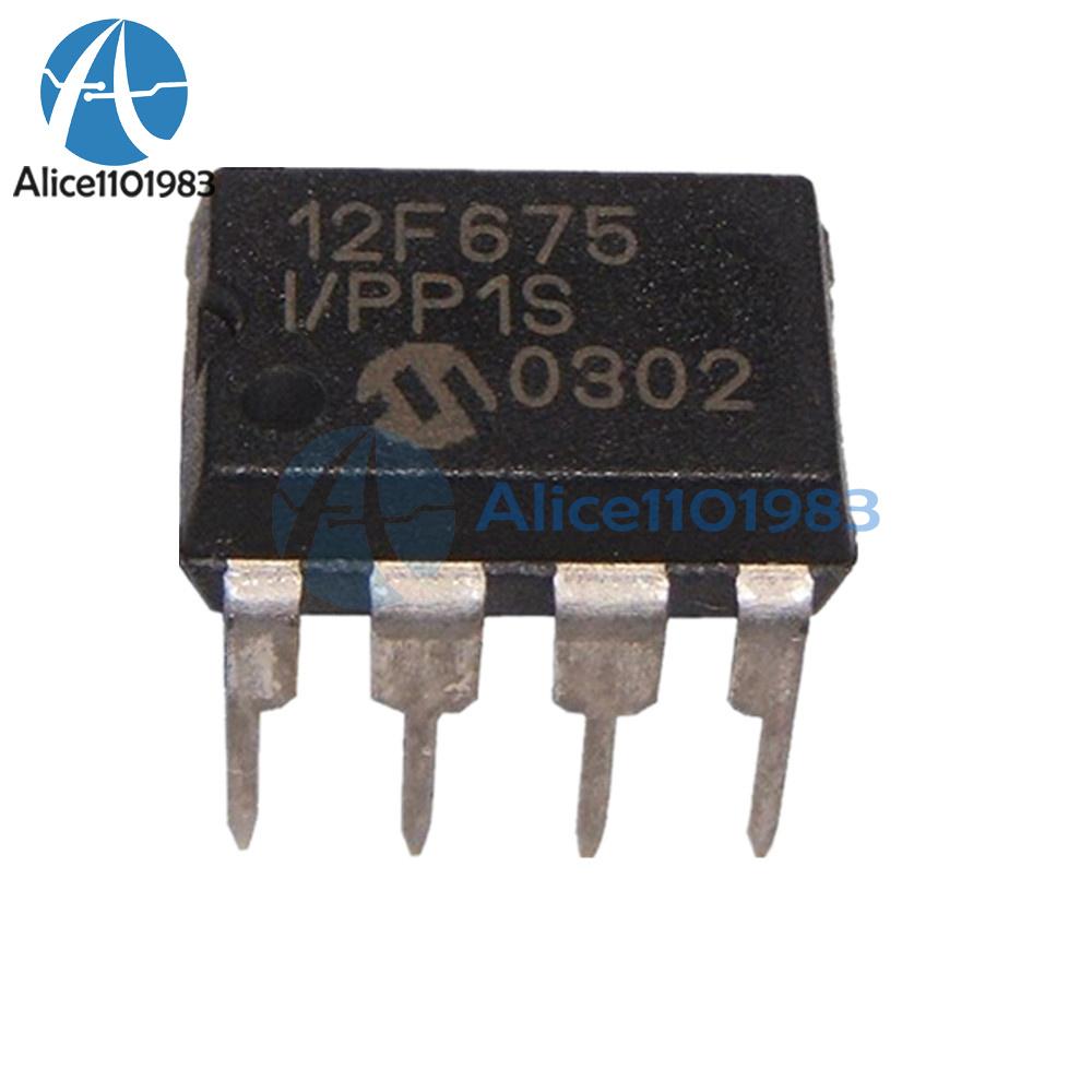 MICROCHIP IC 8BIT FLASH MCU 12F675 DIP8 PIC12F675-I//P