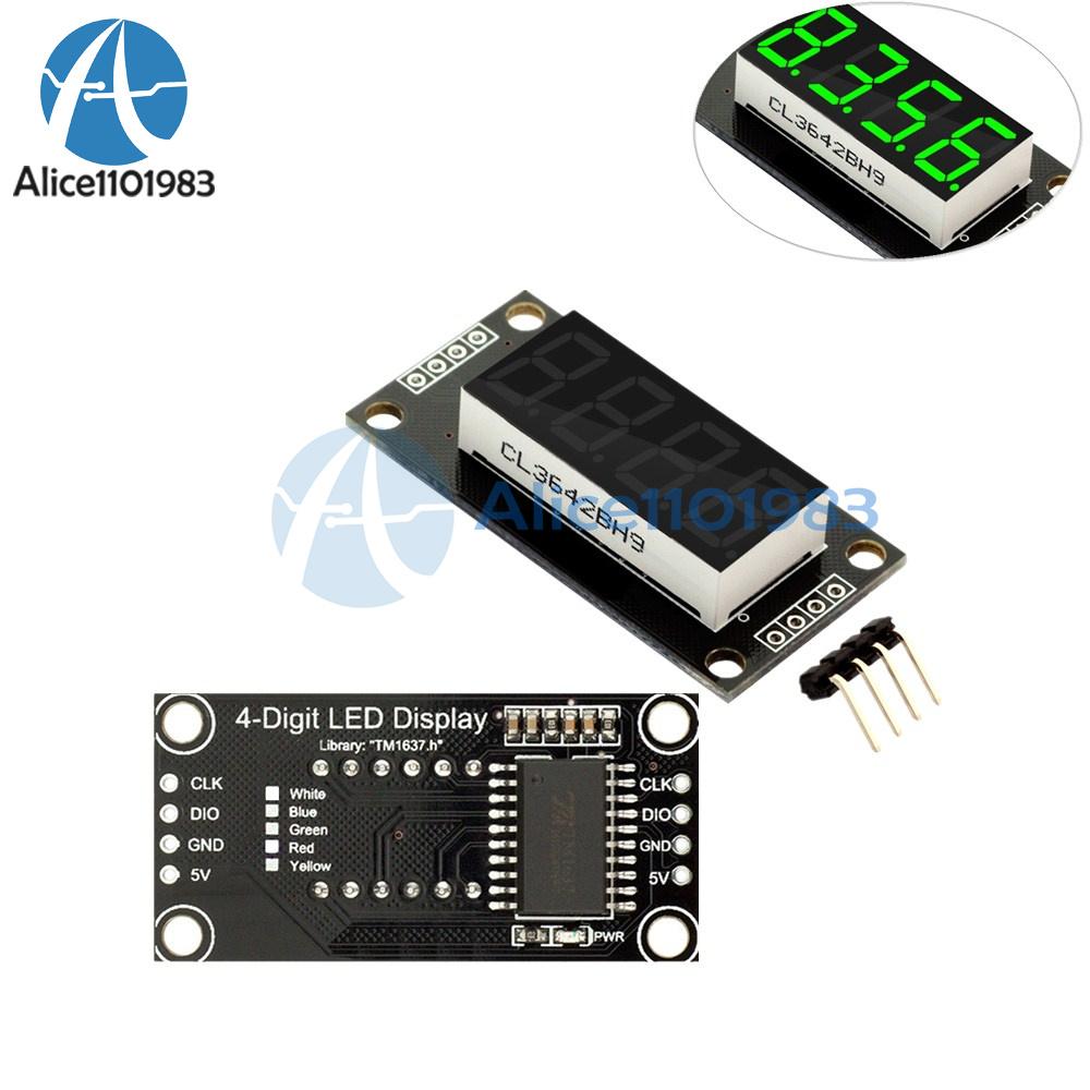 "0.36/"" TM1637 7-Segment 4-Bit Digital Tube LED Red Display Module For Arduino"