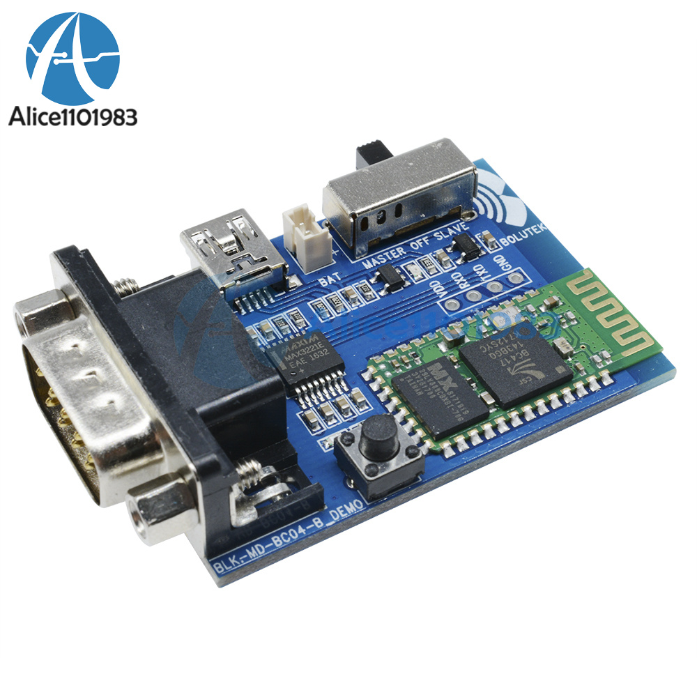 Rs232 Bluetooth Serial Adapter Communication Master Slave Module 5v Rs 232 Powered Temperature Sensor Mini Usb