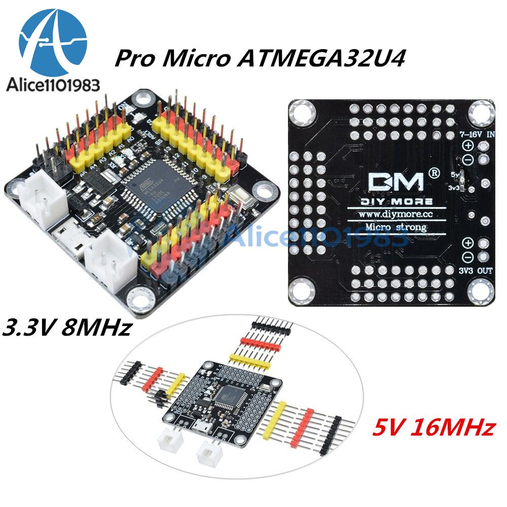 3.3V//5V 8//16MHz Pro Micro ATMEGA32U4 Development Board for Arduino Windows Linux