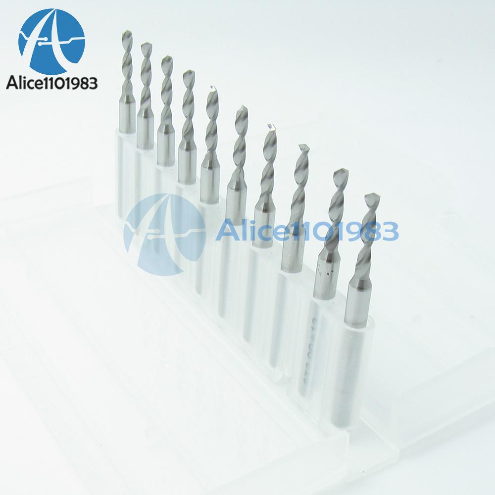 1.0mm Mini Micro Carbide Steel Engraving Drill Bit PCB Press CNC Dremel MF