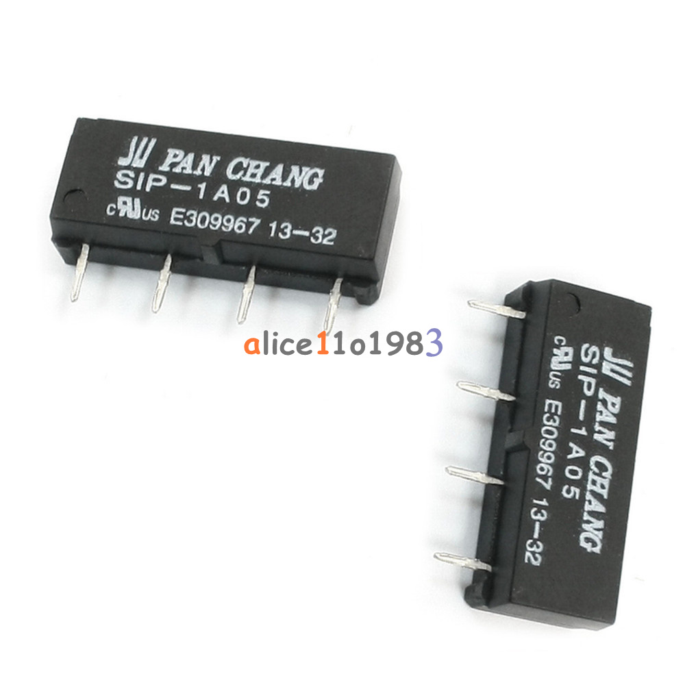 1 2 5 10pcs 4pin Dry Reed Relay Sip 1a05 Switch Dc 5v For Pan Chang