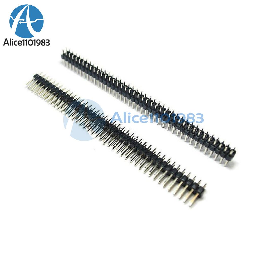 5 PCS 2x40 Pin 2.54 mm Double Row Pin Header Strip