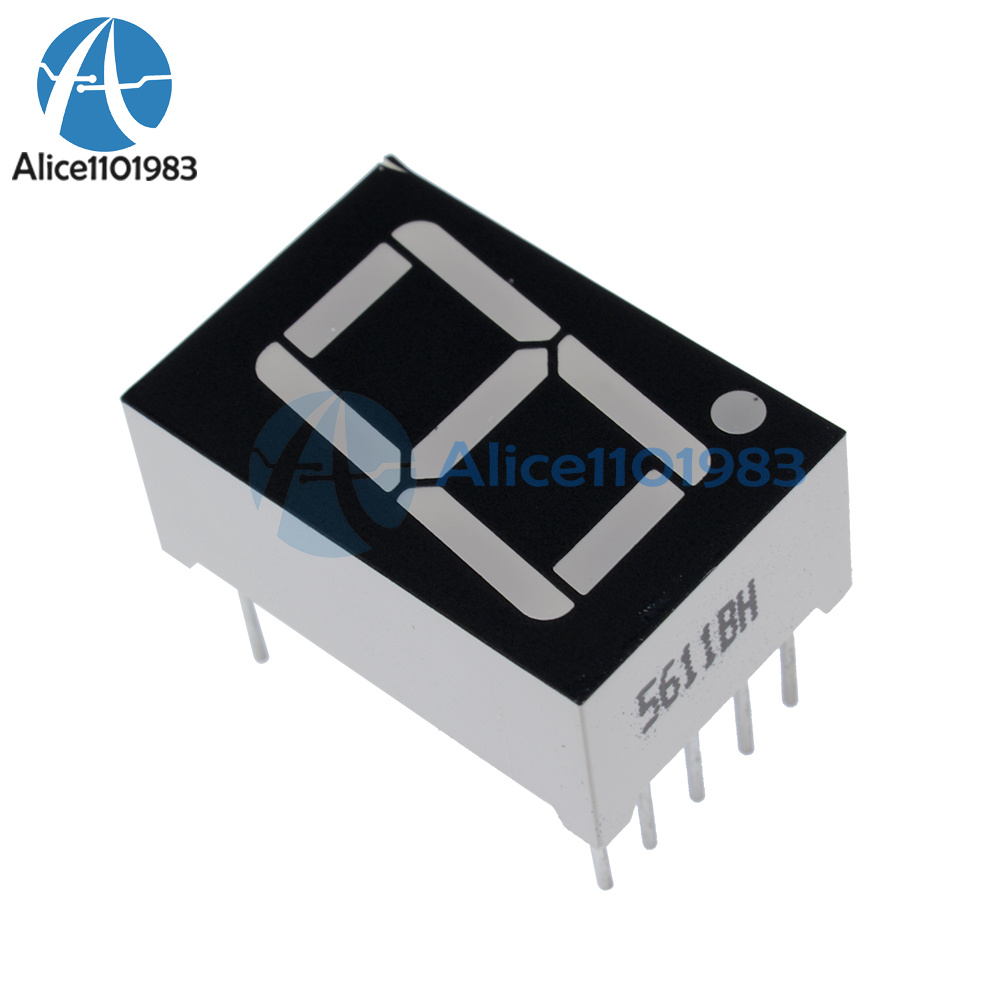 10PCS 0.56 inch 1 digit Red Led display 7 segment Common Anode NEW
