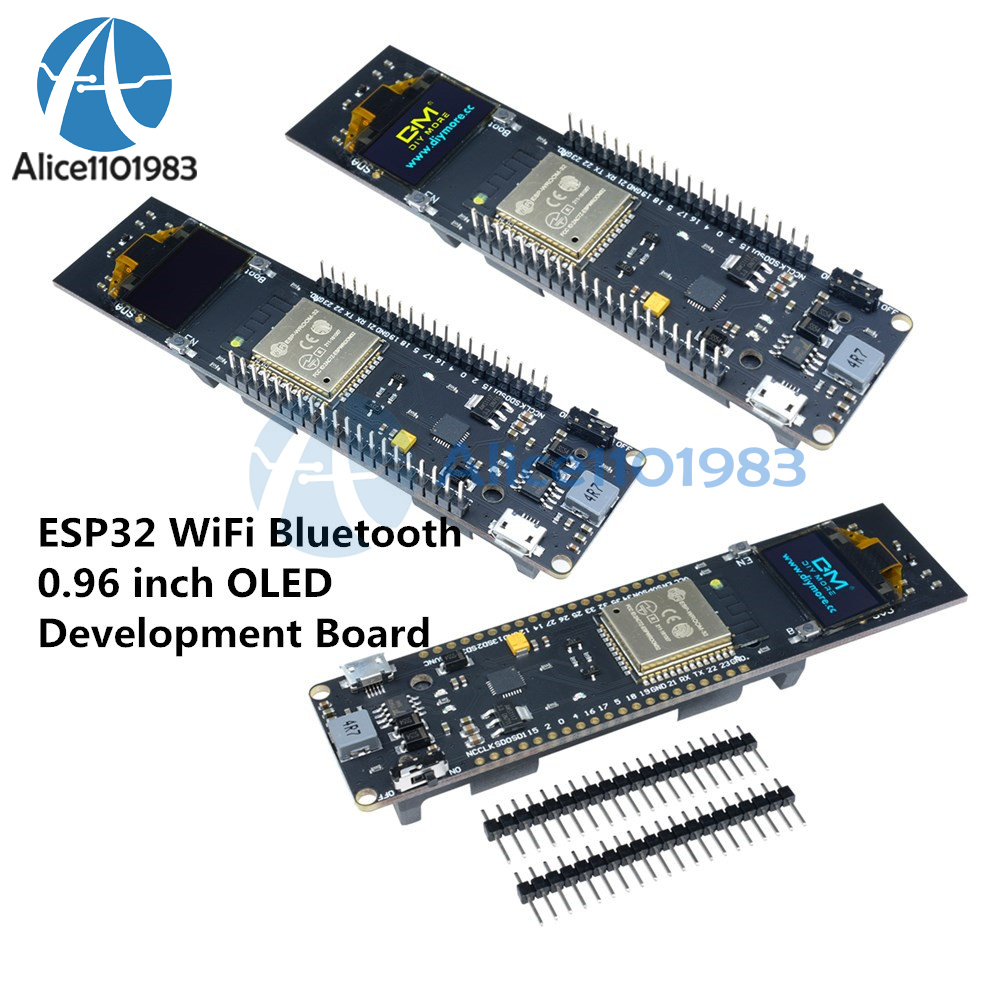 0.96 inch Yellow/&Blue OLED ESP32 WiFi Bluetooth 18650 CP2102 Development Board