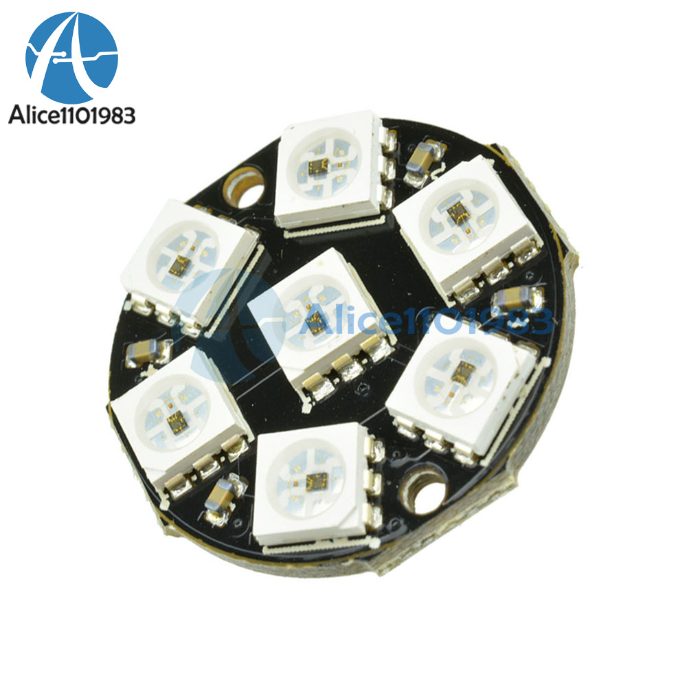 New 12-Bit RGB 5050 LED Ring WS2812 Round Decoration Bulb Perfect For Arduino
