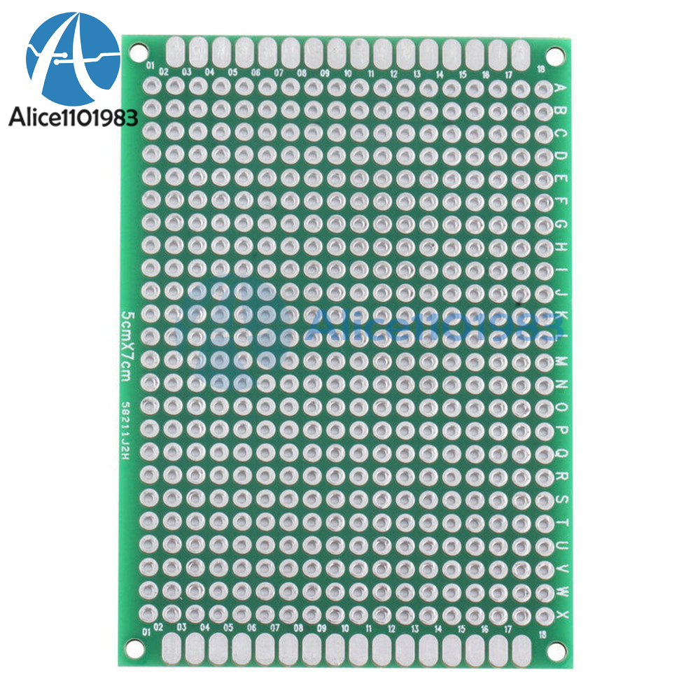 Pcb Prototyping Printed Circuit Board Prototype Breadboard Alex Nld 5pcs Double Side Bread Tinned Universal 10pcs 5x7 Cm 50mmx70mm Fr4