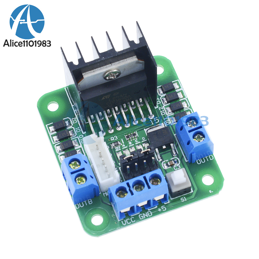Stepper motor drive controller board module l298n dual h for Arduino controlled stepper motor