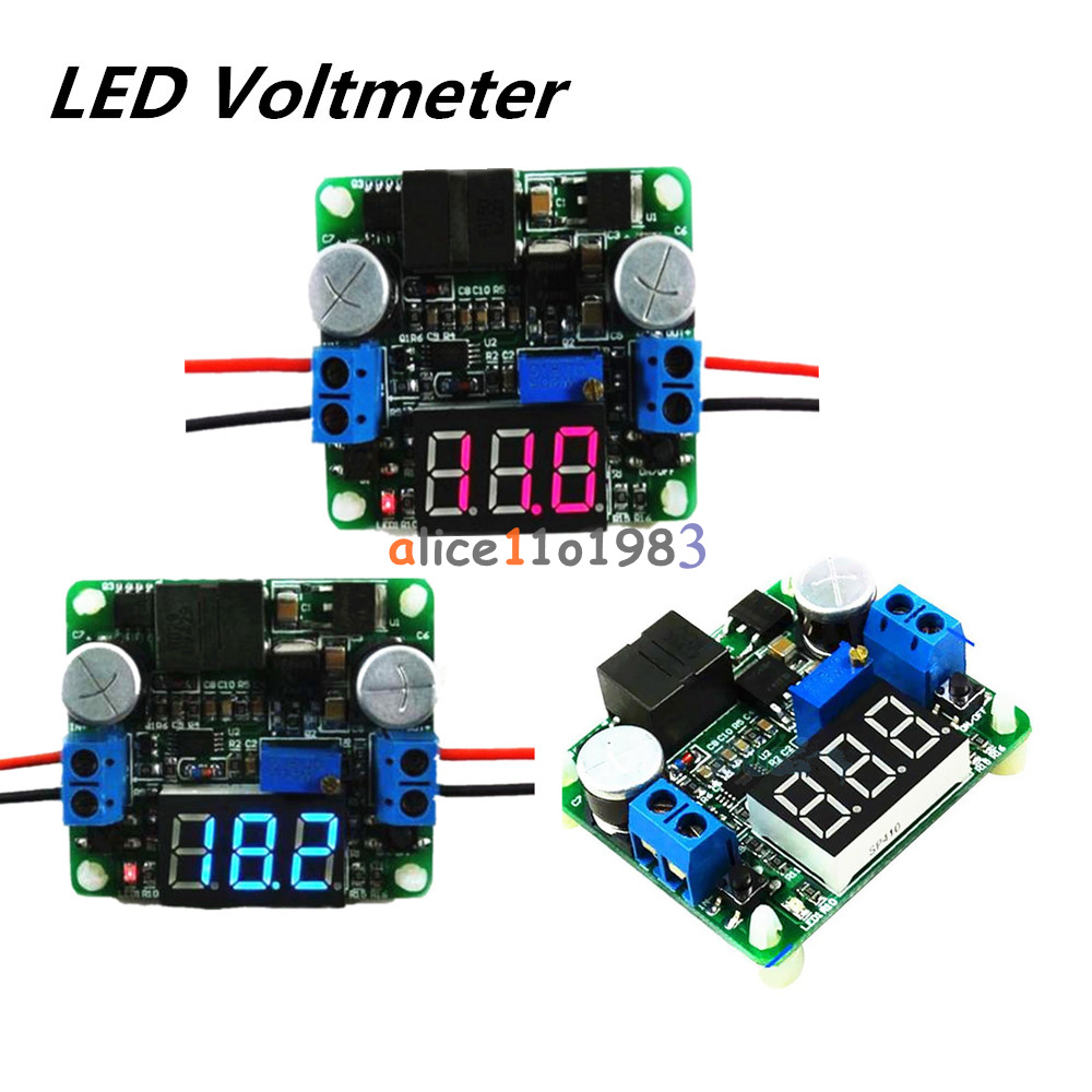 25w 2a Dc 5 25v 12v To 05v 24v Led Voltmeter Buck Boost Categories Electrical Engineering Electronics Circuits Integrated Voltage Meter Step Up And Down Power Supply Module Lm2577 Lm2596 In