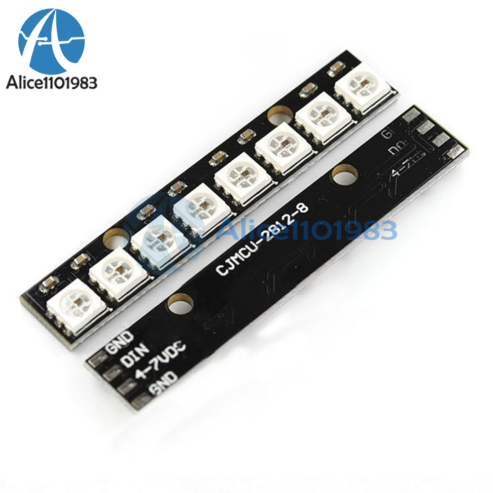 Details about Black 8 Channel WS2812 5050 RGB 8 LEDs Light Strip Driver  Board for Arduino