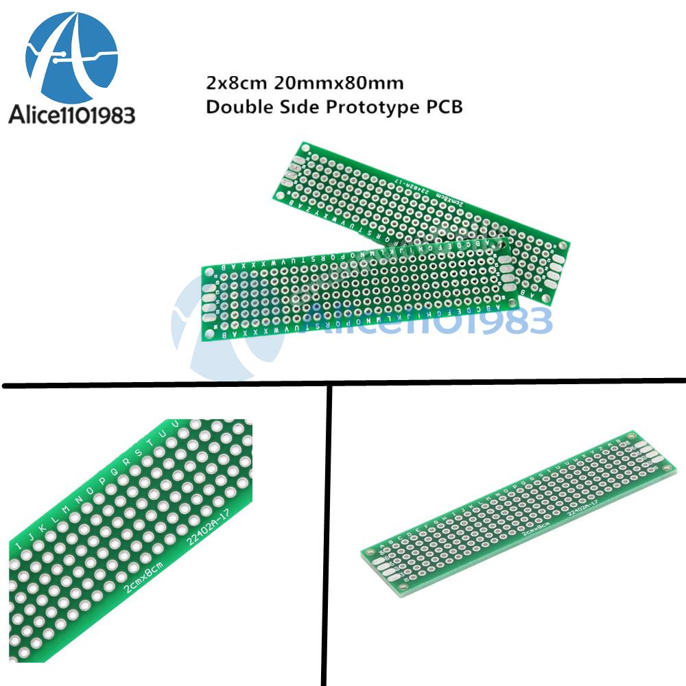50PCS Double Side Prototype PCB Tinned Universal Breadboard 3x7 cm 30mmx70mm FR4
