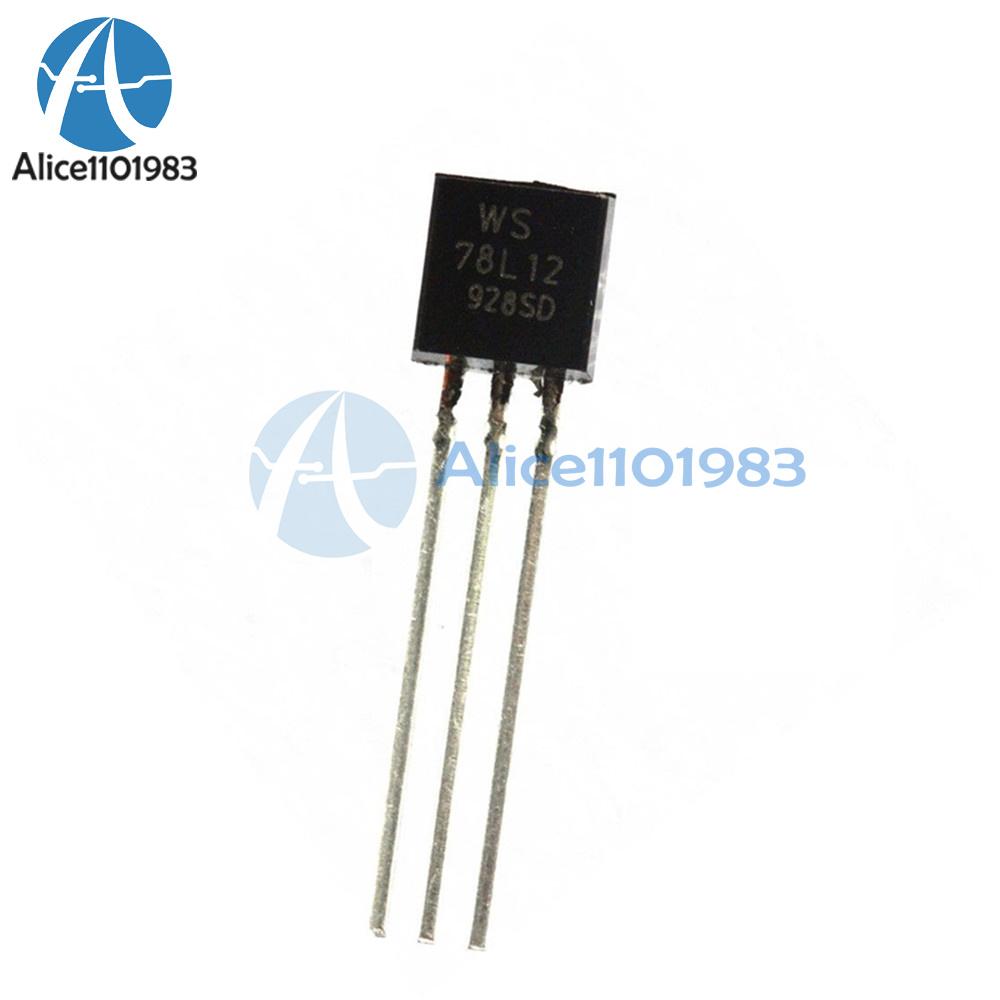 100pcs Ws78l12 78l12 To 92 12v 100ma Voltage Regulator Ic Ebay Circuits