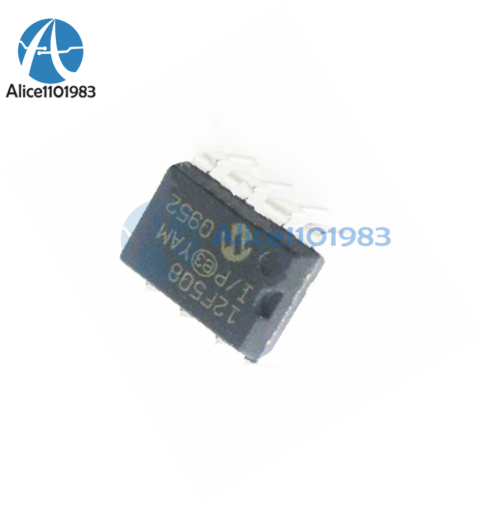 10PCS PIC12F508 PIC12F508-I//P MIC IC MCU 8BIT 768B FLASH 8-DIP