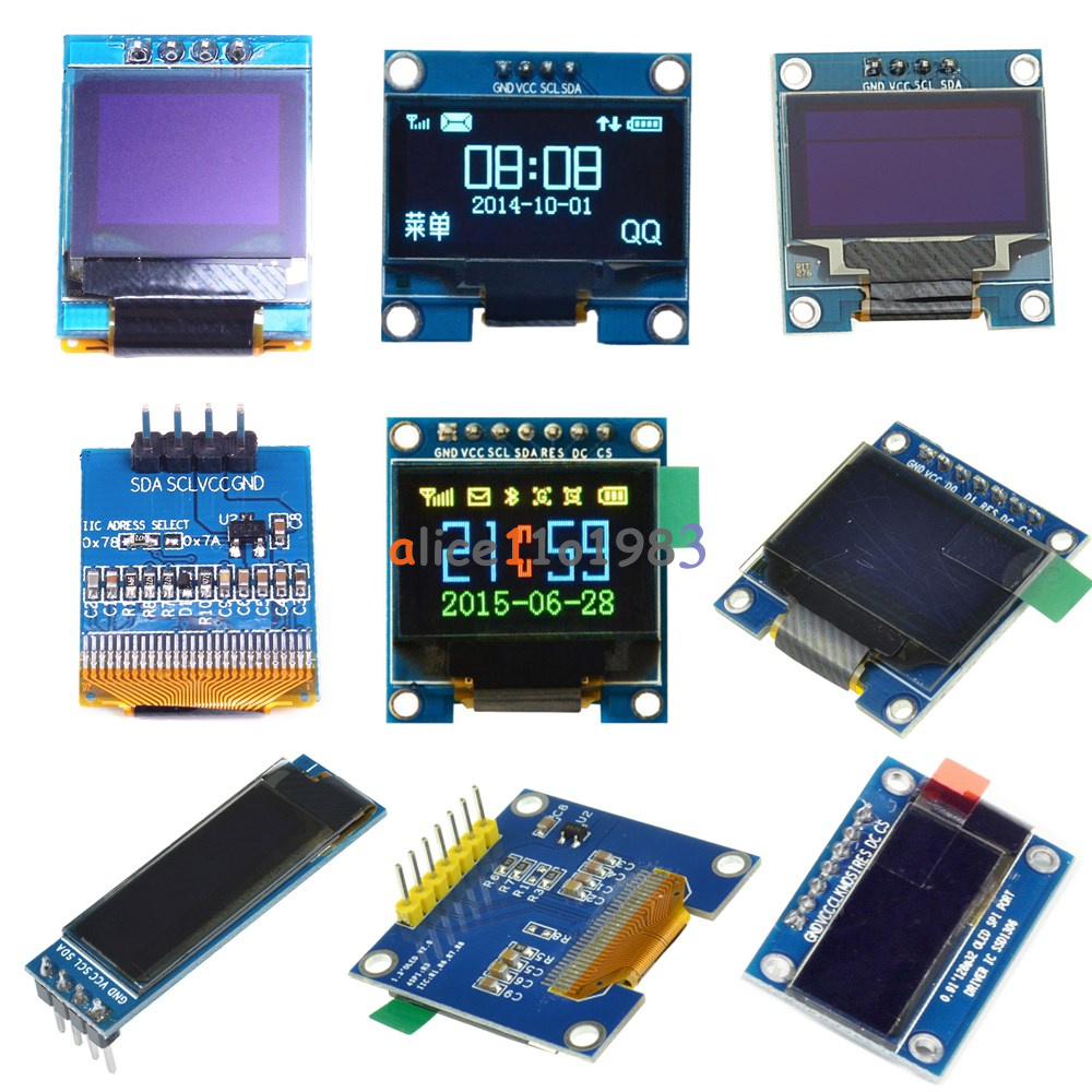 091 095 096 066 13 Inch 4 7pin I2c Spi Oled Lcd Led Rgb Blue Driver Chip Application Circuit With Interface Yellow White