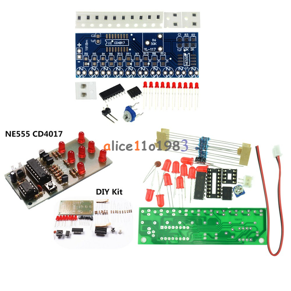 Ne555 Cd4017 Lcd Light Water Suite Diy Kits Electronic Module Electronically Designed Dice Game Circuit By Lm555 Icsk057a Red
