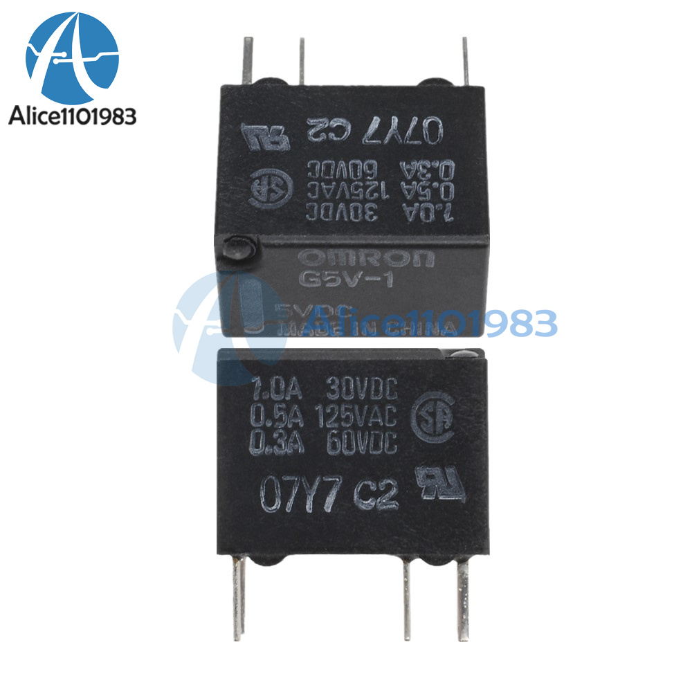 Details about 10PCS New 5V G5V-1-5VDC Signal Relay 6 PINs for Omron on siemens relay wiring diagram, relay switch wiring diagram, alternator relay diagram, control relay wiring diagram, opto 22 relay wiring diagram, fuel pump relay wiring diagram, ac relay wiring diagram, chevy fuel pump wiring diagram, schneider relay wiring diagram, timer relay wiring diagram, power relay wiring diagram, single pole relay wiring diagram, panasonic relay wiring diagram, time delay relay wiring diagram, dpdt relay wiring diagram, 5 pole relay wiring diagram, basic relay wiring diagram, contactor wiring diagram, 8 pin relay wiring diagram, 5 pin relay wiring diagram,