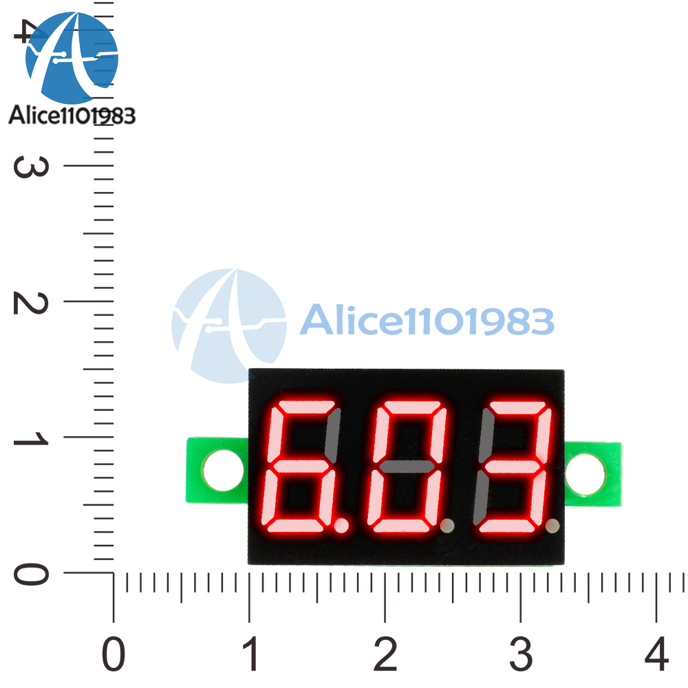 3 Wires 036 Dc 0 30v Led Panel Voltage Meter Digital Display Wire Voltmeter Wiring Item Design Color Red Feature Measurement Range