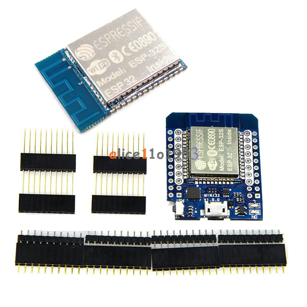 Details about MINI D1 Wemos ESP-32S ESP32 WIFI + Bluetooth ESP8266 CP2104  Module