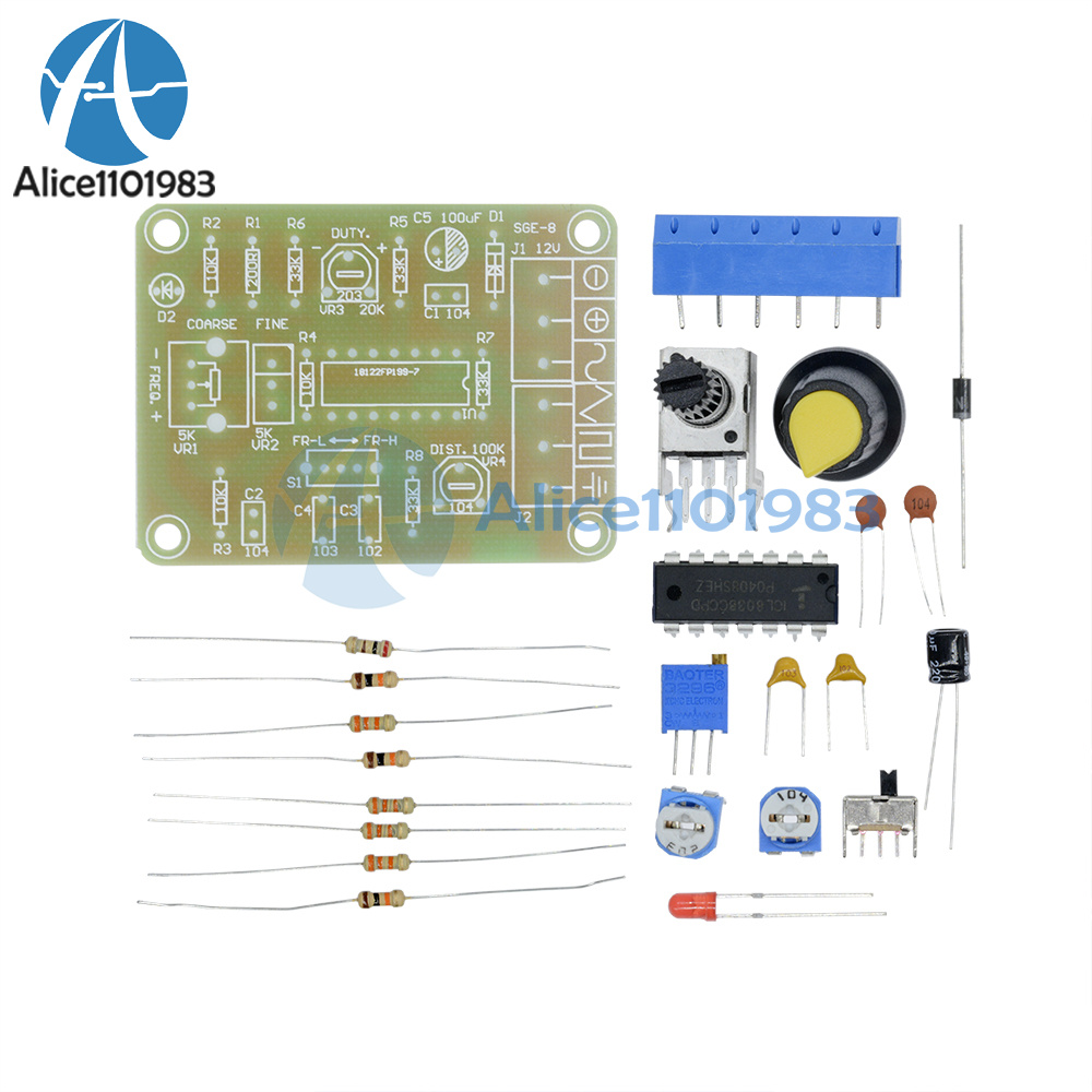 Details about ICL8038 Monolithic Function Signal Generator Module DIY Kit  Sine Square Triangle
