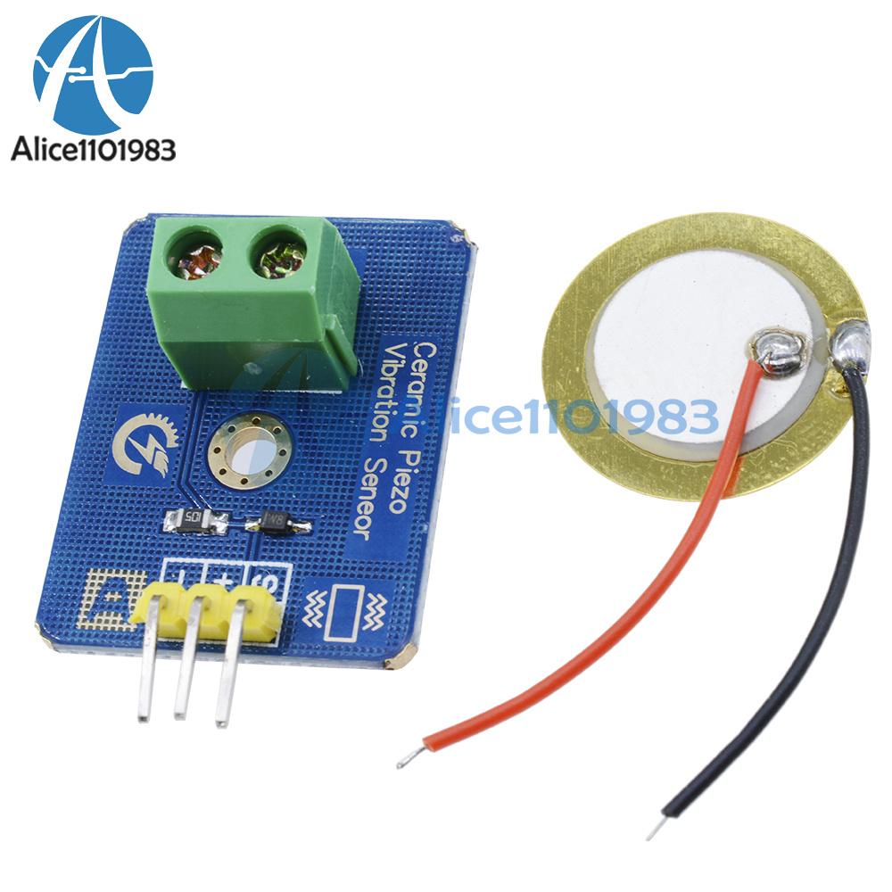 Details about Analog Piezoelectricity Ceramic Piezo Vibration Sensor DIY  for Arduino UNO Rev3