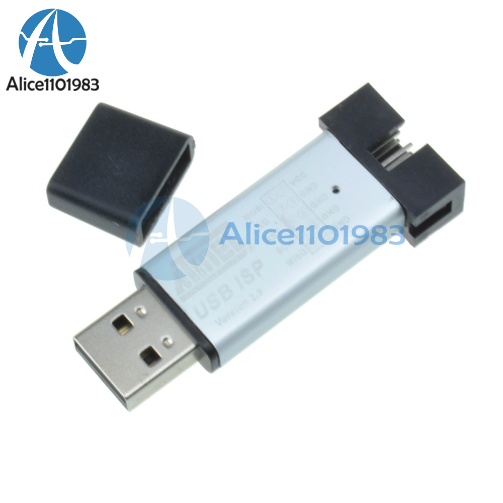 2pcs Mini Usbisp Usbasp Programmer Aluminum For 51 Atmel Avr Win7 64 Usb Isp With Case Reviews