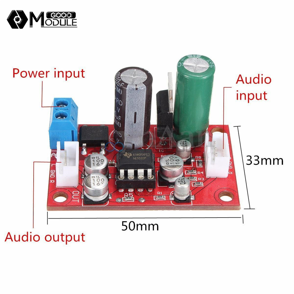 dc9 24v ac8 16v ne5532 audio op amp microphone preamps pre amplifier board diy 937235155406 ebay. Black Bedroom Furniture Sets. Home Design Ideas