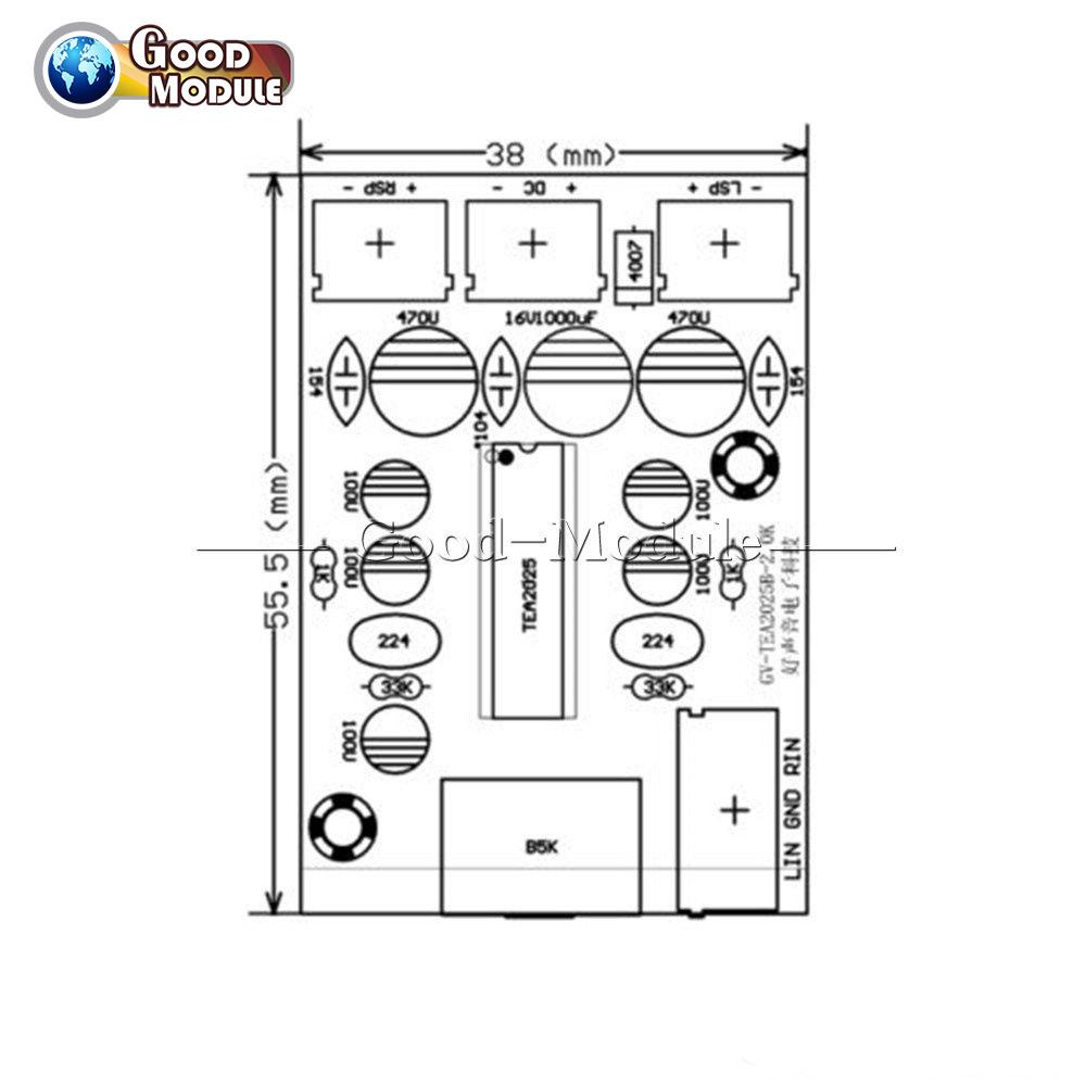 TEA2025B 3W+3W AC5-9V DC5-12V 2.0 Stereo Dual Channel Mini ...