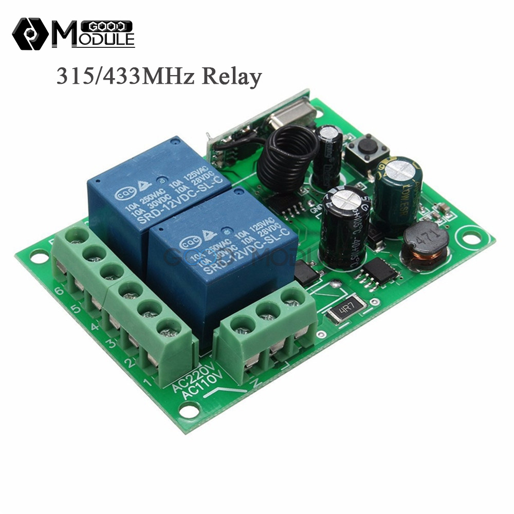 110 220v 315mhz 433mhz 2channel Wireless Rf Relay Remote Control Component Switch Circuit What Do I Need Receiver