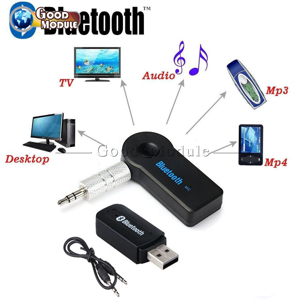 Bluetooth 3.0 Wireless Stereo 3.5mm Audio Music Receiver Car AUX Speaker Adapter