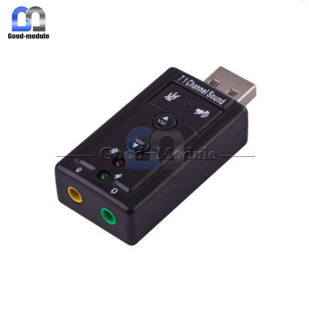 Mini USB 2.0 7.1 Channel Audio Sound Card Sound Adapter For PC Laptop   eBay