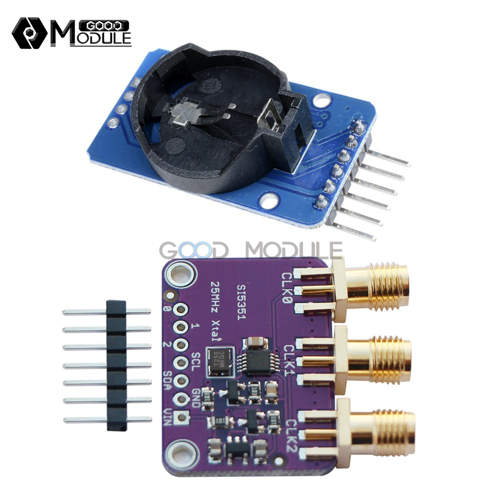 DS3231 Time Clock Si5351A I2C 25MHZ Clock Generator 8KHz to 160MHz for Arduino