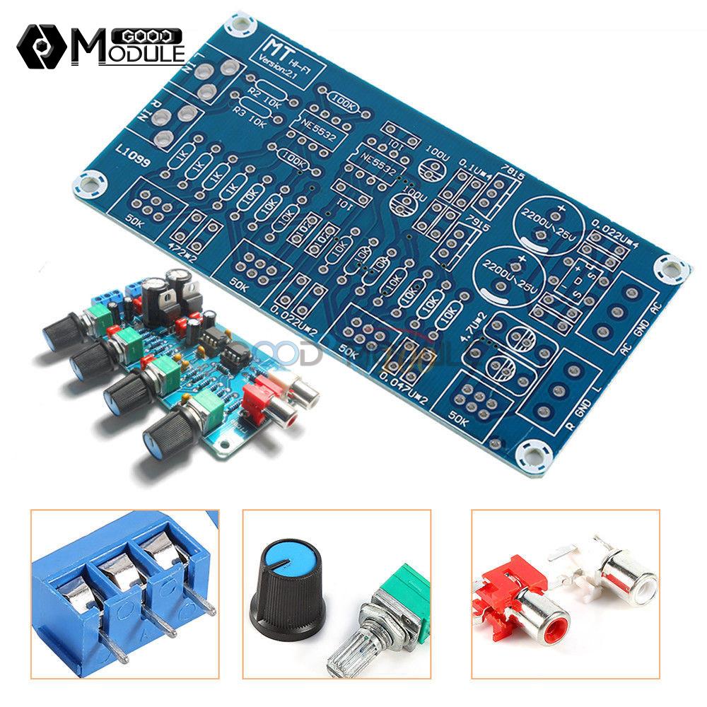 Ne5532 Hifi Op Amp Amplifier Preamplifier Volume Tone Eq Control Circuit For Guitar Using 741 Board Diy Kit